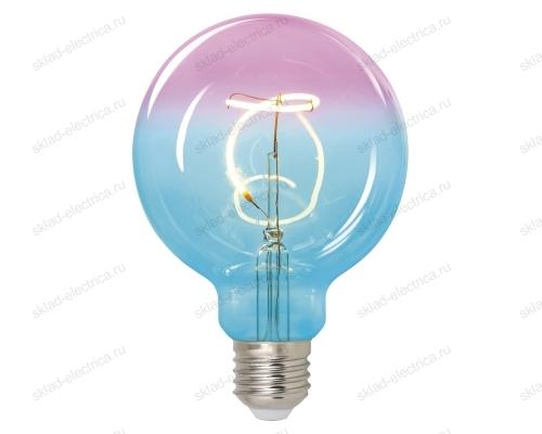 Led-sf01-4w-soho-e27-cw blue-wine gls77tr лампа светодиодная soho. синяя-винная колба. спиральный филамент. картон. тм uniel
