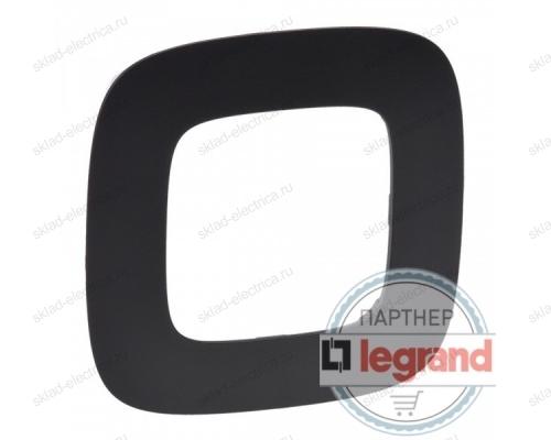 Рамка одинарная Legrand Valena Allure, матовый черный 754401