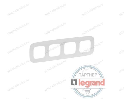 Рамка четверная Legrand Valena Allure, белый 754304