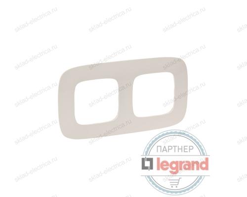 Рамка двойная Legrand Valena Allure слоновая кость 754312