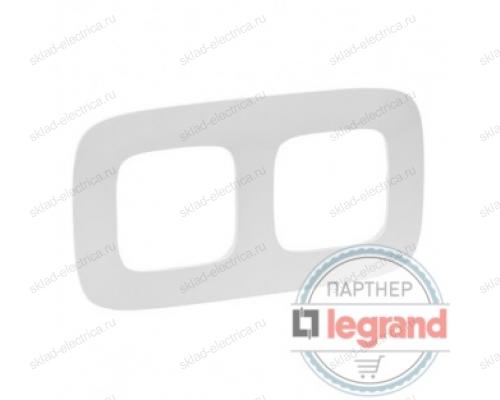 Рамка двойная Legrand Valena Allure, жемчуг 754412