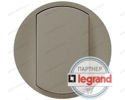 Выключатель двухклавишный Legrand Celiane 10А (титан) 68302 - 67002 - 67002 - 80251