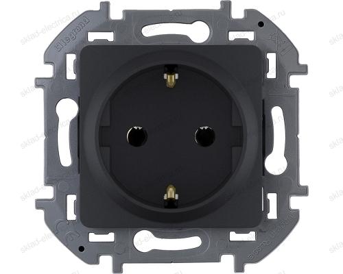 Розетка электрическая Legrand Inspiria антрацит 673723