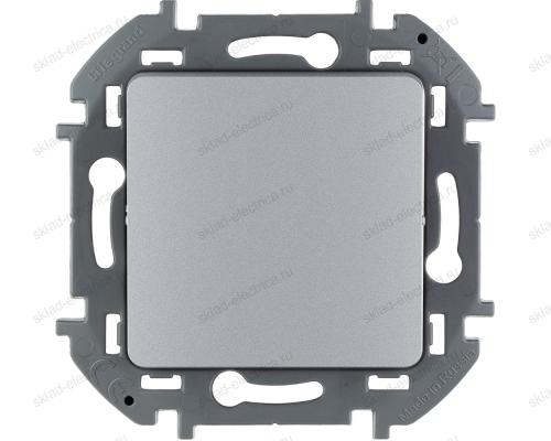Переключатель без фиксации (кнопка) с Н.О./Н.З. контактом Legrand Inspiria алюминий 673692