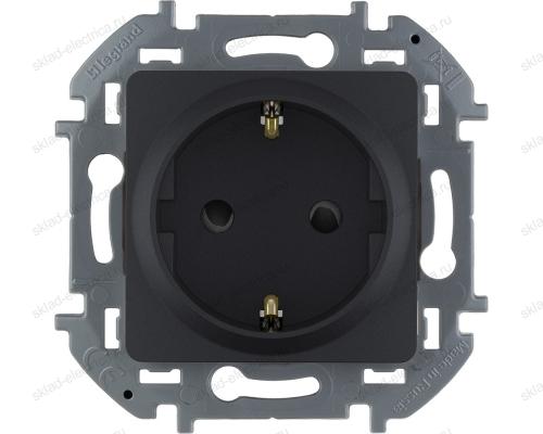 Розетка электрическая Legrand Inspiria антрацит 673733