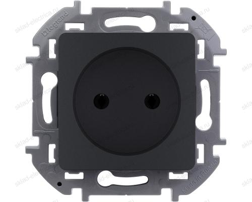 Розетка электрическая Legrand Inspiria антрацит 673713