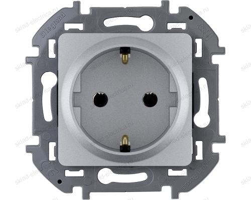 Розетка электрическая Legrand Inspiria алюминий 673722
