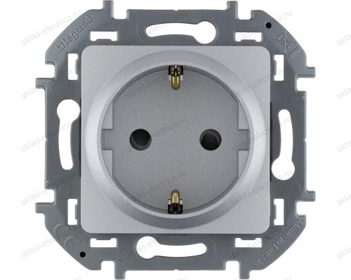 Розетка электрическая Legrand Inspiria алюминий 673732