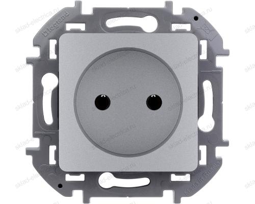 Розетка электрическая Legrand Inspiria алюминий 673712