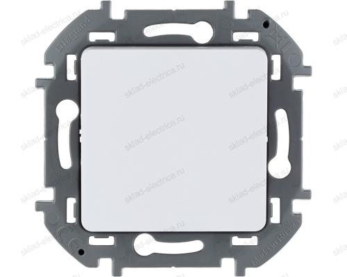 Переключатель без фиксации (кнопка) с Н.О./Н.З. контактом Legrand Inspiria белый 673690