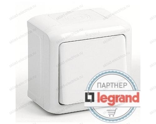 Выключатель 1-клавишный IP-44 Legrand Quteo (Белый) 782300