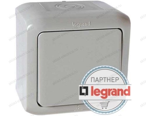 Legrand Quteo Серая Кнопка 1-клавишная IP44 6А 782335