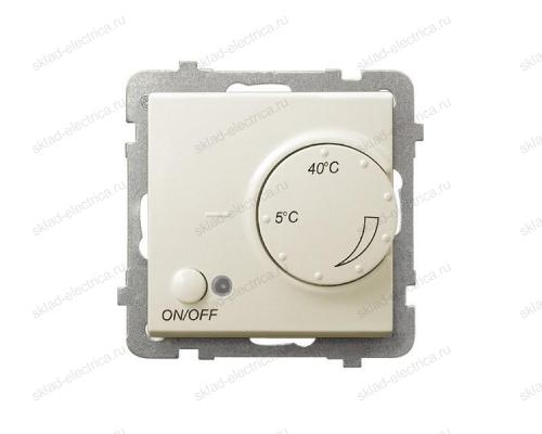 Ospel Sonata бежевый регулятор для теплого пола с датчиком