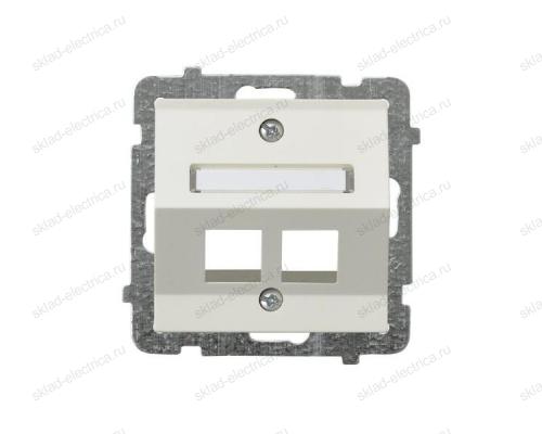 Ospel Sonata бежевый накладка компьютерной розетки наклонной 2-й, без рамки