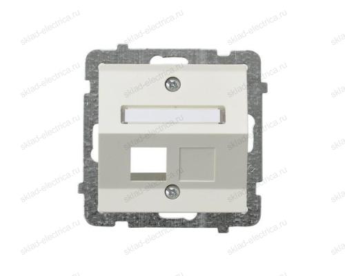 Ospel Sonata бежевый накладка компьютерной розетки наклонной 1-й, без рамки