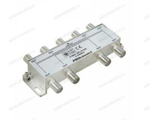 ДЕЛИТЕЛЬ ТВ х 8 под F разъём 5-1000 МГц PROCONNECT 05-6025
