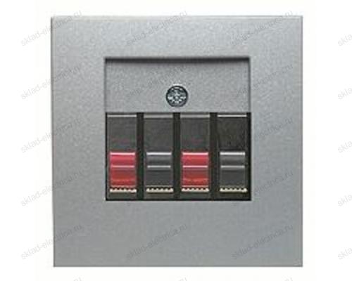 Аудиорозетка для подключения стереодинамиков, вставка антрацит 457305 + 10331404