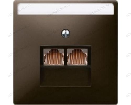 JUNG EcoProfi Мех Розетка компьютерная 2-ая наклонная 6 кат UAE экранированная