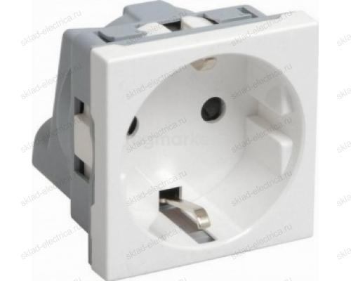 Розетка с заземлением белая VIVA DKC 45005