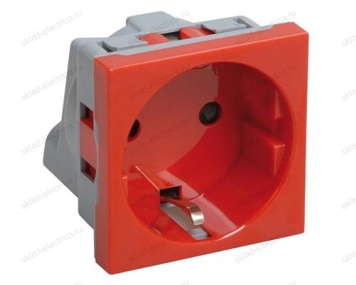 Розетка с заземлением красная VIVA DKC 45015
