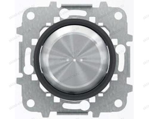 Выключатель 1-клавишный, с подсветкой, Стекло Черное, Skymoon, ABB