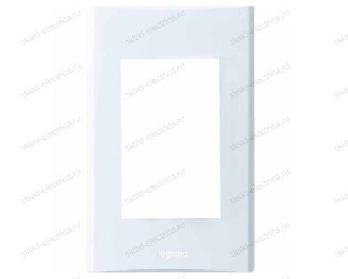Anam Legrand Zunis Рамка для Блока Выключатель одноклавишный + розетка с/з, белая