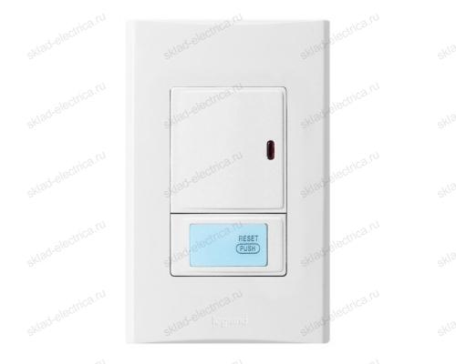 Anam Legrand Zunis Выключатель 1-клавишный с ДУ 30-300 Вт (2-х проводная схема подкл) для л/н, белый