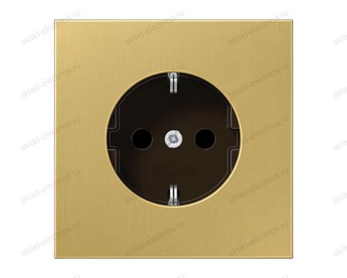 LSmetal Розетка 2К+З 16А 250В~, латунь.
