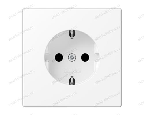 LS990 Розетка 2К+З 16А 250В~, цвет Матовый белый