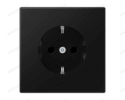 LS990 Розетка 2К+З 16А 250В~, цвет матовый черный