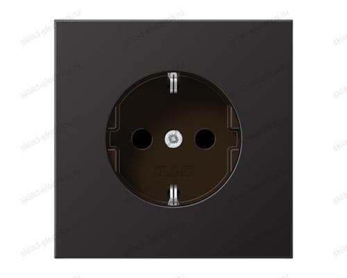 LSmetal Розетка 2К+З 16 A 250 B~, dark (лакиров. алюминий)
