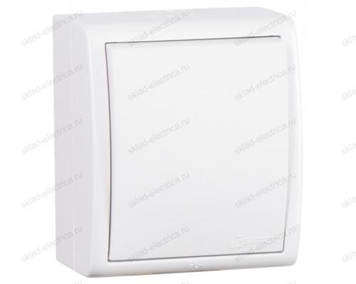 Выключатель одноклавишный Simon 15 Aqua IP54 10А 250В белый