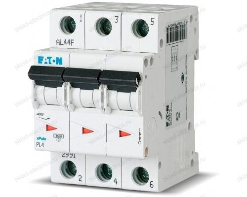 Выключатель автоматический модульный 3п C 25А 4.5кА PL4-C25/3 EATON 293162