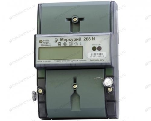 Счетчик электроэнергии Меркурий 206 N однофазный многотарифный с ЭП