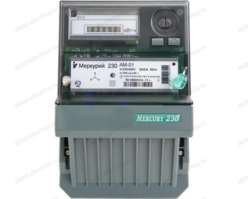 Счетчик электроэнергии Меркурий 230 АМ-00 5(7,5)А трехфазный (100В) однотарифный трансформаторного подключения