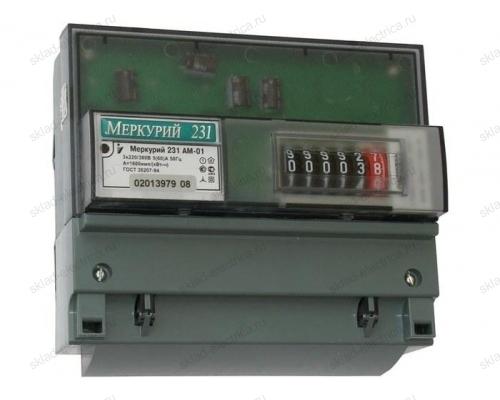 Счетчик электроэнергии Меркурий 231 АМ-01 трехфазный однотарифный на DIN-рейку