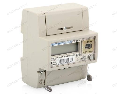 Счетчик электроэнергии однофазный многотарифный 5(60) CE102M R5 145-A ЖКИ RS485 Энергомера