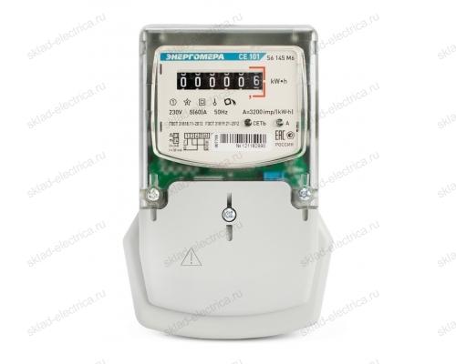 Счетчик электроэнергии однофазный однотарифный 5(60) CE101 S6 145 M6 ЭМОУ Энергомера