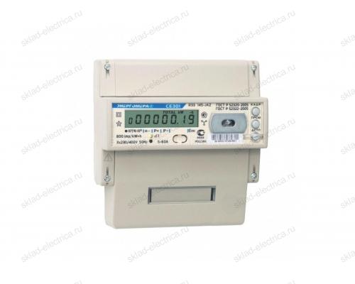 Счетчик электроэнергии трехфазный многотарифный 5(60) CE301 R33 145-JAZ ЖКИ RS485 оптопорт Энергомера