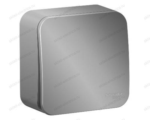 Выключатель 1-клавишный 10А, 250B, Schneider Blanca, с изолирующей пластиной, алюминий BLNVA101013