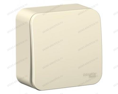 Выключатель 1-клавишный 10А, 250B, Schneider Blanca, с изолирующей пластиной, молочный BLNVA101012