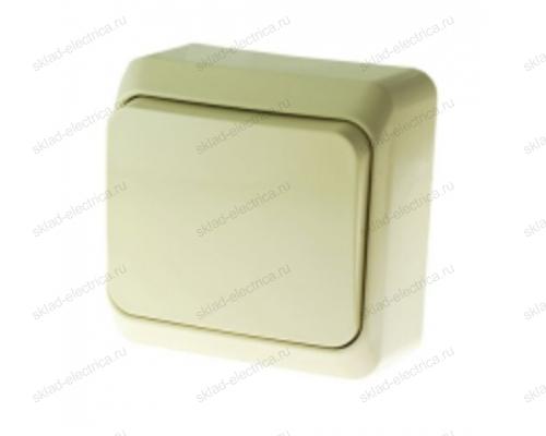 Выключатель одноклавишный проходной (из 2-х мест) Этюд (слоновая кость) BA10-004K