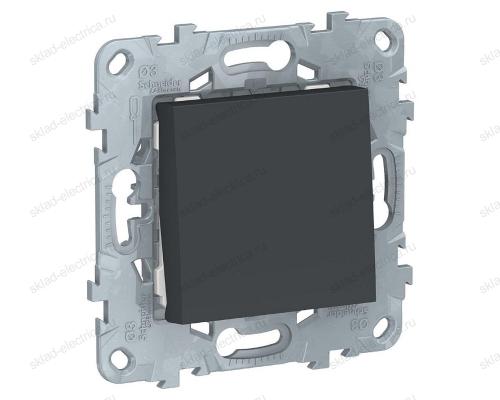 Выключатель одноклавишный 10А/250 В~ Schneider Unica New, антрацит NU520154