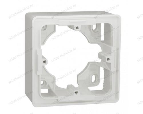 Одноместная коробка для накладного монтажа Schneider Electric Unica Studio, белый NU800218
