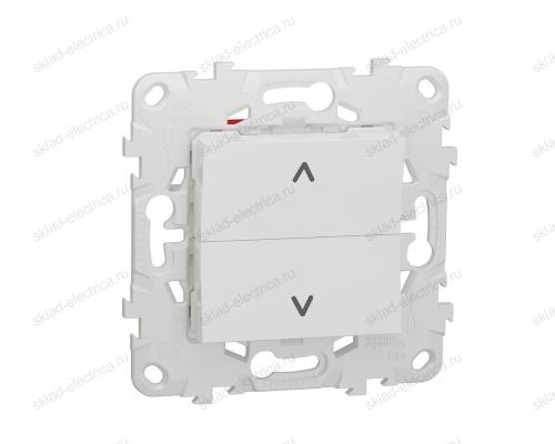 Кнопочный выключатель управления для жалюзи и рольставней 6А/250 В~ Schneider Unica New, белый NU520718