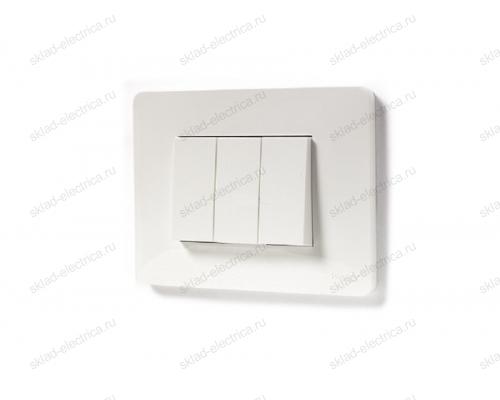 Выключатель 3-х клавишный 10А/250 В~ Schneider Unica New, белый NU310118+NU310118+NU310118