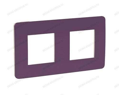 Рамка двойная Schneider Electric Unica Studio Color, лиловый-бежевый NU280415