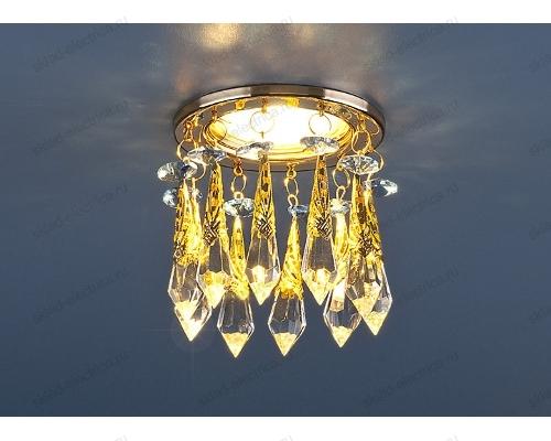 Встраиваемый потолочный светильник 2021 золото/тонированный/голубой (FGD/GC/BL)