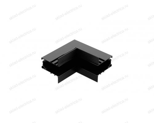 Угол поворотный внешний для встраиваемого магнитного шинопровода Quest Light Turn in 34/2 Black