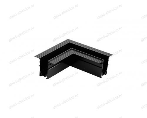 Угол поворотный внутренний для встраиваемого магнитного шинопровода Quest Light Turn in 34/1 Black